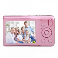 "DC-V100 2.7"" Screen Max 15MP 5X Option Zoom Digital Camera - Pink"