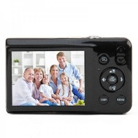 "DC-V100 2.7"" Screen Max 15MP 5X Option Zoom Digital Camera - Black"