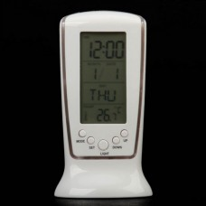 510 Blue Backlight LCD Digital Music Alarm Clock   Calendar   Thermometer