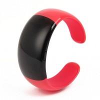 Stylish Bluetooth V2.1 Bracelet w/ Vibration Function + Digital Time - Red+Black