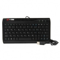 W8017 Genuine MC-SAITE Wired Mini Slim 78-Key Keyboard - Black