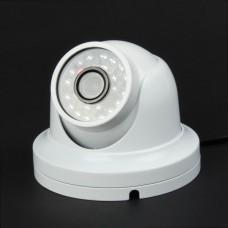 "JK004 1/3"" SONY CCD IP66 Waterproof 1.3MP CCTV Digital Video Camera w/ 24-IR LED - White"
