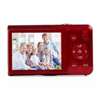 "SDI500 2.7"" TFT LCD CMOS 15MP Digital Video Camera w/ SD/USB2.0 - Red"