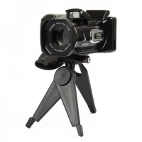 "HD9100 2.5"" LTPS LCD CMOS 16MP Digital Video Camera w/ 16X Digital Zoom+Long Lense- Black"