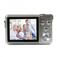 "5MP CMOS Compact Digital Video Camera w/ 4X Digital Zoom/SD Slot - Silver (2.7"" TFT LCD) DC-780"
