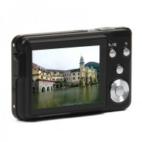 "5MP CMOS Compact Digital Video Camera w/ 4X Digital Zoom/SD Slot - Black (2.7"" TFT LCD) DC-780"