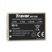 Genuine Travor NB-5L 3.7V/1120mAh Battery Pack for Digital Camera