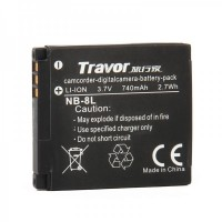 Genuine Travor NB-8L 3.7V/740mAh Battery Pack for Digital Camera
