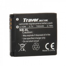 Genuine Travor NB-8L 3.7V/740mAh Battery Pack for Digital Camera