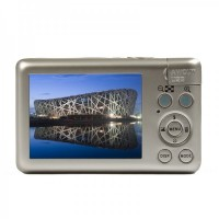 "DC-800 2.7""TFT 5.0MP Touch Screen 5X Optical Zoom Digital Camera - Champagne"
