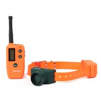 "1.4"" LCD Remote Pet Training Collar w/ Beeper - Orange + Green"
