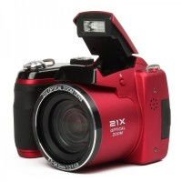 "S5000 1600MP Digital Camera 3"" LCD, 21X Optical Zoom,  - Red"