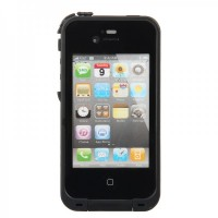 IH133 Ultra-slim Waterproof / Snow-proof / Dirt-proof / Shock-proof Protective Case For iPhone 4/4S - Black