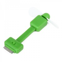 2-Leaf Mini Fan For iPhone/iPod Touch - Green