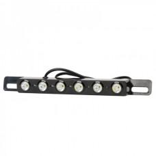 6-LED Automoblie Rearview Accessory Light (DC12V)-Black