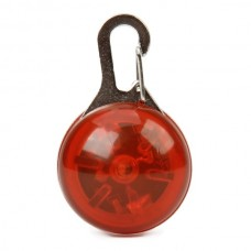 ET-2842 1-LED Round light Pet Collar Tag - Red