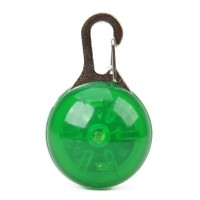 ET-2842 1-LED Round light Pet Collar Tag - Green