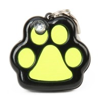 ET-2814A 1-LED Paw Pet Collar Tag - Green