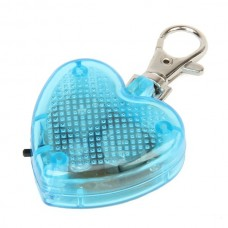 ET-2834 1-LED Heart Flashing Pet Tag - Blue