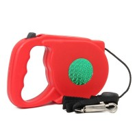 CL-006 Retractable Leading Dog Leash with Plastic Shell - Red (5M)