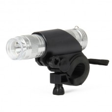 PZ-348 1-LED Bicycle Flashlight (Silver)