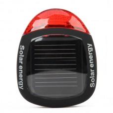 TW-001 2-LED Solar Energy Bike Tail-light (Black)