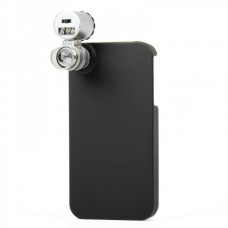 Special Microscope W/Money/Currency Detecting 2-LED Illumination 60X for iPhone4  (Silver)