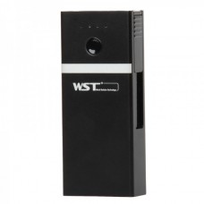 WST-Q8 Genuine WST 5200mAh Power Pack with Flashlight - Black