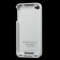 1600mAh External Battery Back Case w/ FM Transmitter for iPhone 4 / 4S - White