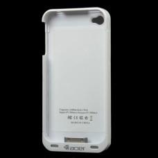 1600mAh External Battery Back Case w/ FM Transmitter for iPhone 4 / 4S - White