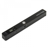 "TSN-420 0.8"" LCD Handheld A4 Scanner with TF Card Slot - Black"