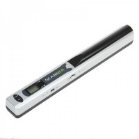 "LZ-415B 0.8"" LCD Handheld A4 Scanner with TF Card Slot - Silver"