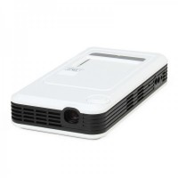 DLP-166 Portable Multimedia Player Mini Projector - White