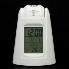 "809  2.5"" LCD Sound Activated Backlit Digital Projection Calendar Speaking Clock with Thermometer"