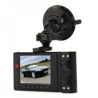 "3.0MP CMOS Car Wide Angle Dual Lens DVR Camcorder w/ 4-IR LED Light - Black (2.7"" TFT LCD)"