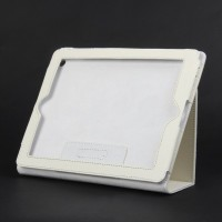 Protective PU Leather Case for ipad3--White