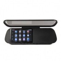 "GHU5102 5.0"" Touch Rear View Mirror GPS Navigator with Bluetooth/AV IN + 4GB TF USA/Canada/Mexico Maps"