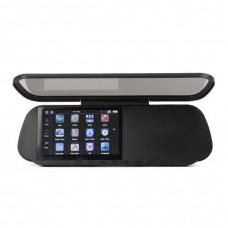 """GHU5102 5.0"""" Touch Rear View Mirror GPS Navigator with Bluetooth/AV IN + 4GB TF USA/Canada/Mexico Maps"""