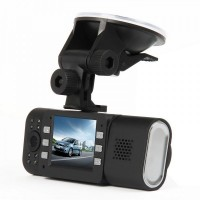 "X4000 Dual 5.0MP Lens Wide Angle Car DVR Camcorder w/ 16-IR LED / HDMI / TF (2.0"" TFT LCD)"