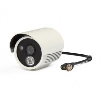 "JK003  1/3"" Sony CCD 1.3MP Surveillance Security Camera w/ 1-IR LED Night Vision - White"