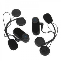 MB800M BT Interphone + Handsfree Bluetooth Set for Motorcycle / Skiing Helmet (Pair / 800M-Transmission)