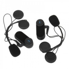 MB800M BT Interphone + Handsfree Bluetooth Set for Motorcycle / Skiing Helmet (Pair / 800M-Transmission)