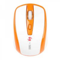 MC-309 2.4GHz Wireless 1600DPI Optical Mouse - White + Orange