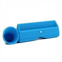 Silicone Horn Stand Amplifier Speaker for iPad - Blue