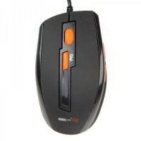 MC-070U  MCSAITE USB Wired 1000 / 1600DPI Optical Mouse - Black (150cm-Cable)