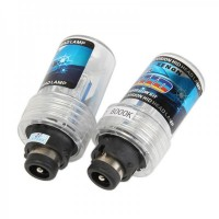 D2C 55W 8000K 3000LM HID Bluish White Light Xenon Headlamps (Pair)D2C-8000K