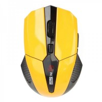 MC-169 2.4GHz 800 / 1600DPI Wireless Optical Mouse - Yellow (2 x AAA)