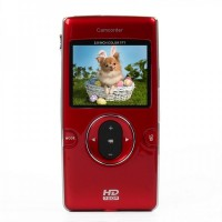 "DV-119 1.3MP CMOS Handheld Camcorder w/ HDMI / AV / SD Slot - Red (2.0"" TFT)"