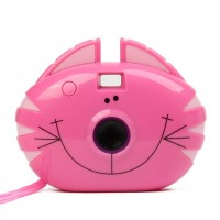 "Cartoon Cat Style 300K Pixels USB Digital Camera - Rosy (1.0"" LCD / 2 x AAA)"