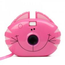"Cartoon Cat Style 300K Pixels USB Digital Camera - Rosy (1.0"" LCD / 2 x AAA)"